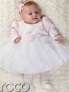 Baby girls pink white dress pink bolero jacket wedding babys