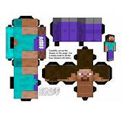 Fabriquer Un Steve En Carton WTCraft  Minecraft