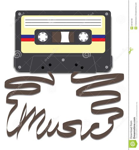 cassetta musicale cassette with on stock illustration image