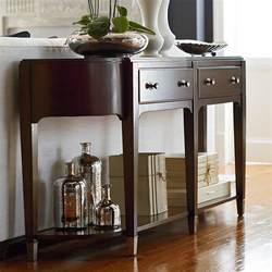 Entryway Table With Drawers Brown Console Table Modern Clean Lines