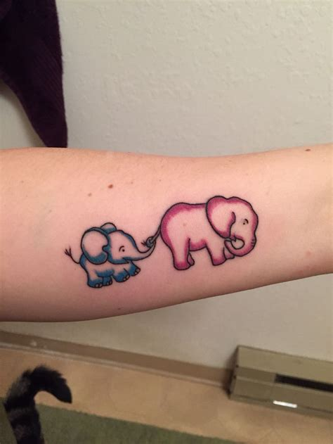 mother and son tattoo design elephant ink me up baby