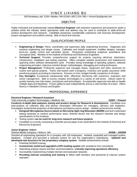 professional electrical engineer resume template