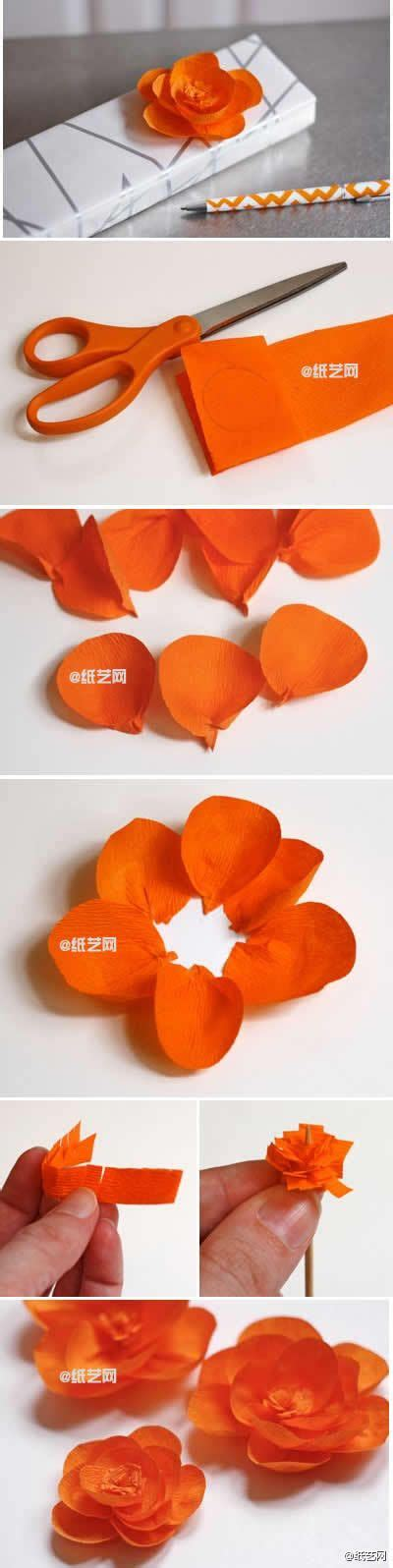 Handmade Tissue Flowers - crepe paper flowers to craft paper