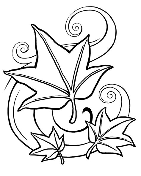 printable coloring pages leaves free printable leaf coloring pages for