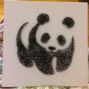 String Arts - string panda 30x30cm crafts string