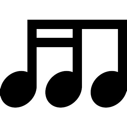 sixteenth note free music icons