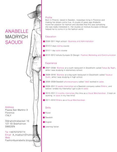Fashion Merchandising Resume Sample