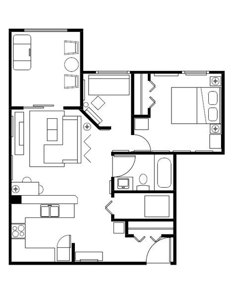 floor plan furniture clipart floorplan clipart clipground