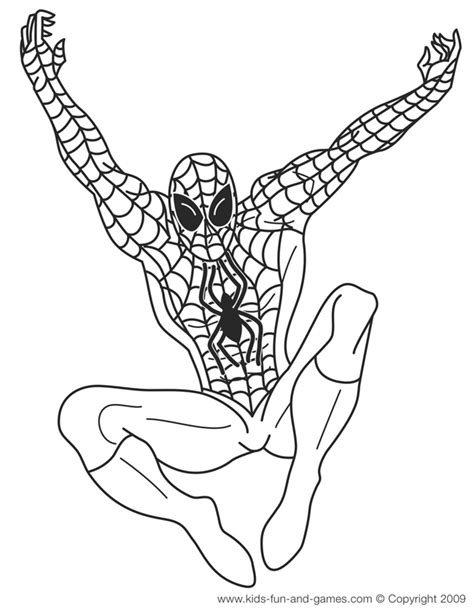 pictures of black spiderman coloring home