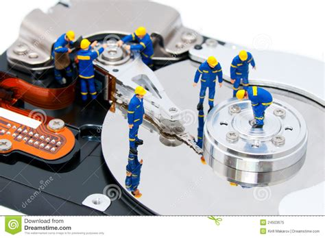 Repair Harddisk disk repair concept royalty free stock photo image