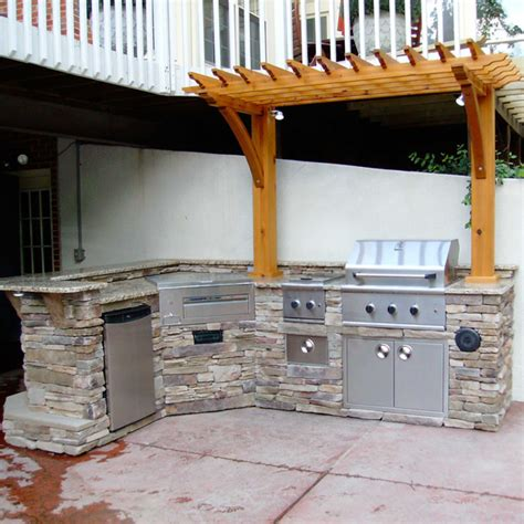 Backyard Grill By16 Outdoor Kitchen W Bbq Grill And Pergola Family