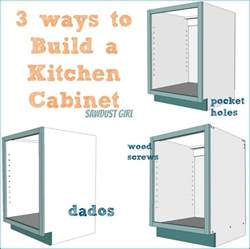 Reviews Kitchen Cabinets three ways to build a basic kitchen cabinet sawdust girl 174