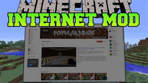 web mod game online minecraft internet in minecraft search the internet in
