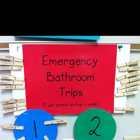 Bathroom Pass Ideas by I Don T About The Emergency Part But It Does Me