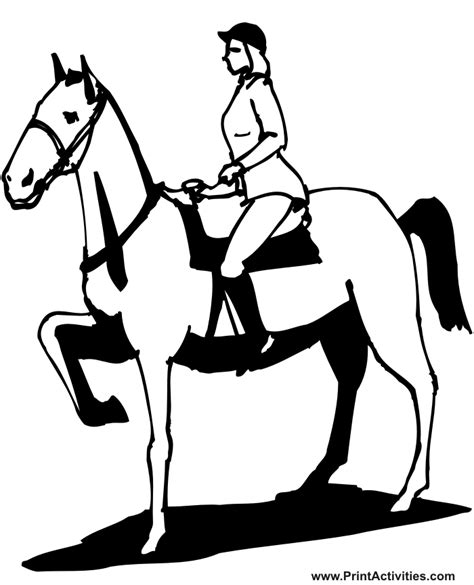 coloring pages of horse riding horse and rider coloring pages coloring home