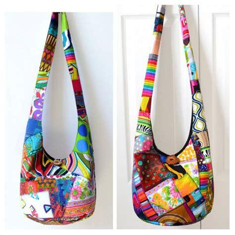 Patchwork Hobo Bag Pattern - made to order crossbody bag hobo bag sling bag hippie