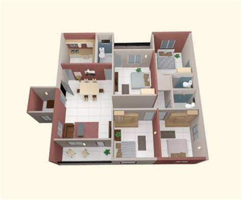 4 room apartment 4 bedroom apartment house plans