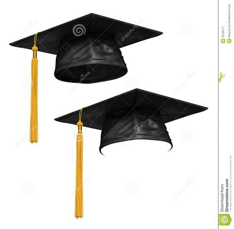 3D Render Of Black Graduation Cap Royalty Free Stock