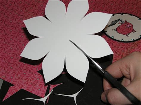 paper flower pattern cut out flower pattern cut out template