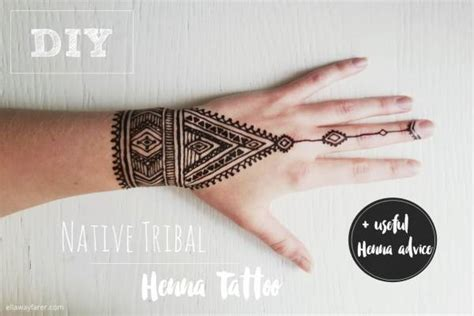 diy tribal henna tattoo bath and body