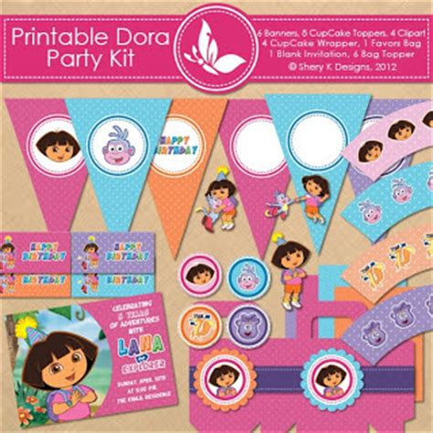 printable dora birthday banner 9 best images of free printable dora birthday banner