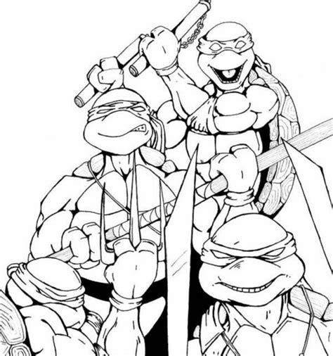 ninja outline coloring page ninja turtle outline clipart best