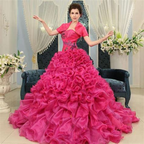 pink designer wedding dresses pink wedding gowns designs 2014 2015 for