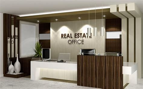 layout of real estate office real estate reception desk real estate office