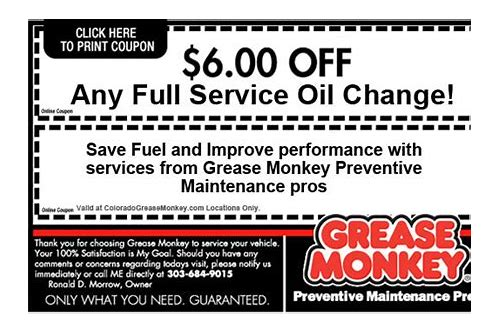 grease monkey coupons littleton co
