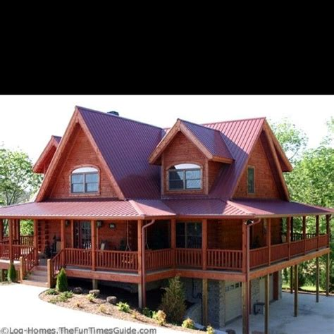 log home with wrap around porch like the offset steps and log cabin home with wrap around porch perfect by