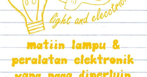 5 contoh poster hemat energi listrik postermu