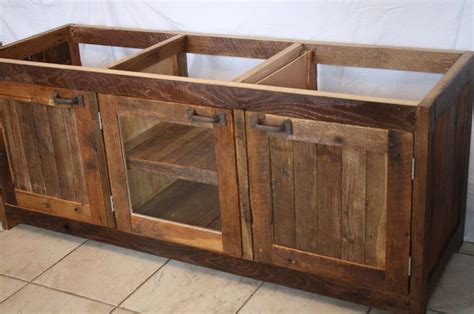 Rustic Bath Vanity Cabinets by Your Custom Made Rustic Barn Wood Vanity Cabinet