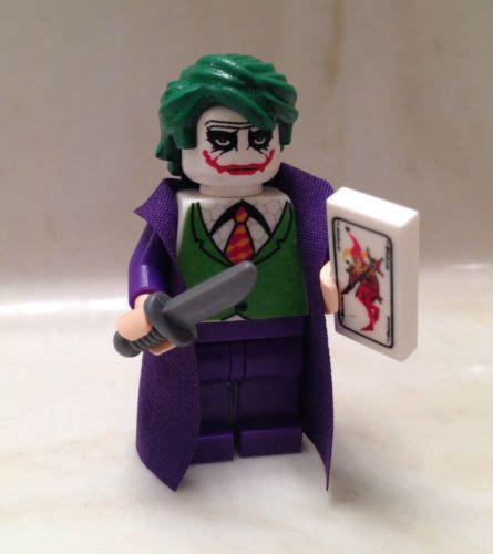 Lego Joker 1 lego batman joker custom minifigure w card knife minifig rises bane lego