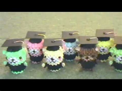 3d origami graduation bear tutorial paper graduation bears 3d origami youtube