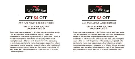 Lobster Coupons Printable 2016