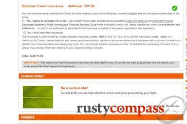 Jetstar Insurance Letter jetstar s shoddy standards compass travel