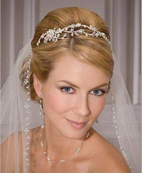 bridal hairstyles with veil and tiara bridal hairstyles with tiara