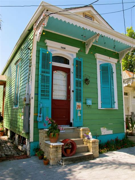 green cottage new orleans architecture pinterest