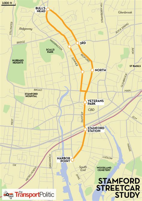 uconn cus map new stamford enter streetcar wars with proposed station to downtown links 171 the transport