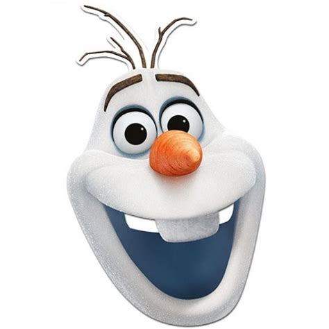 best photos of olaf printable mask olaf frozen face