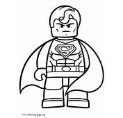 The Lego Movie  Superman Coloring Page