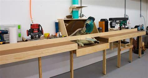 miter  station garage shop ideas pinterest sheds