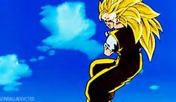 Dragon Ball Z Super Saiyan Goku Kamehameha GIF