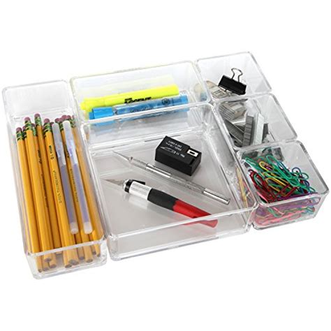 arad clear acrylic office tool craft organizer set desk
