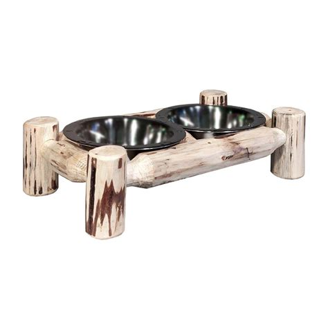 montana woodworks montana woodworks lacquered small pet feeder mwdfsv the