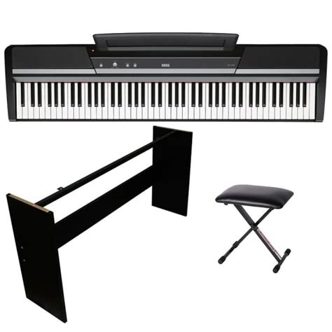 portable piano bench korg sp 170s digital piano portable 88 key kit w wooden