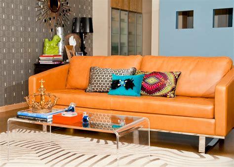Armchair And Ottoman Slipcovers Phoenix Burnt Orange Sofa Living Room Modern With Area Rug