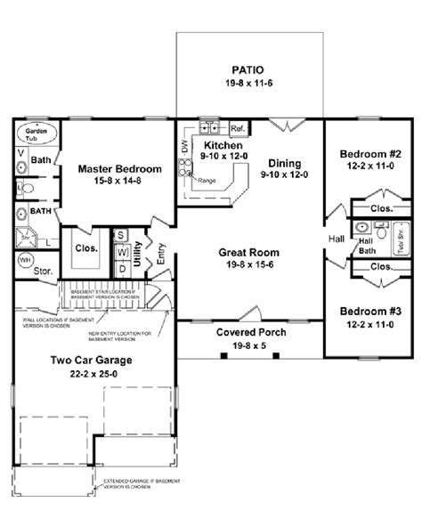1400 Square House Plans by Ranch House Plans 1400 Sq Ft