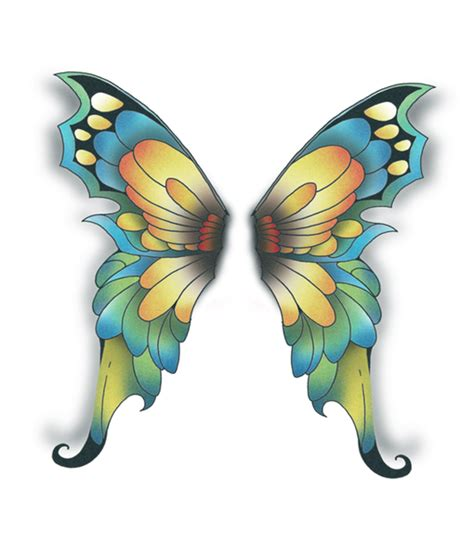 butterfly fairy wings temporary tattoo tattooednow ltd