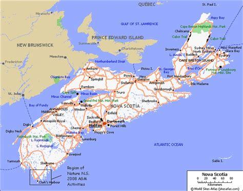 map of scotia canada map of scotia beaches